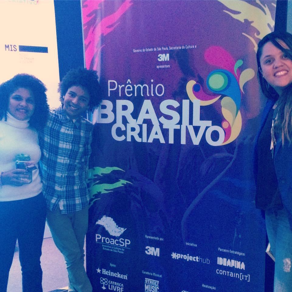 Da esquerda p/ direita: Sidinéia, Bruninho e Claudia