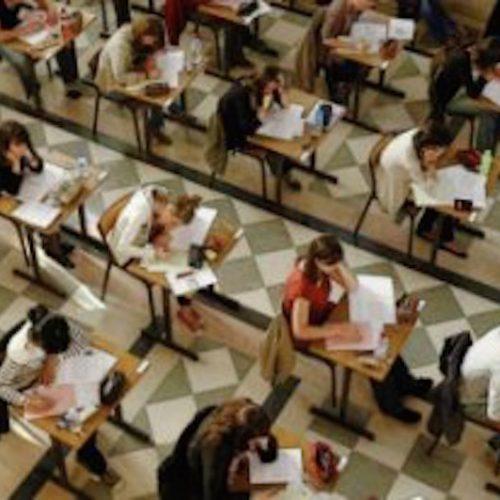 alunos prova de readção