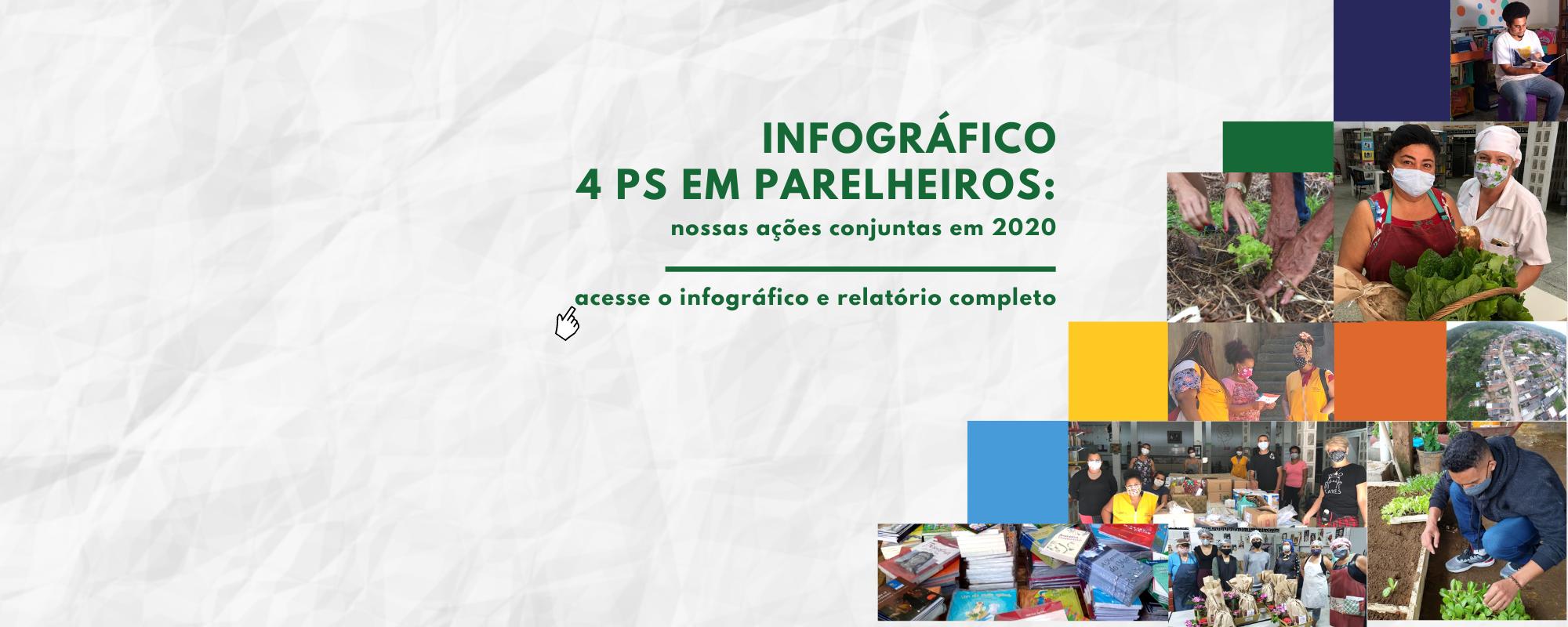 """Infográfico """"4 Ps em Parelheiros: nossas ações conjuntas em 2020"""""""